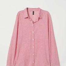H&M, pamučna košulja na prugice, 74 kune