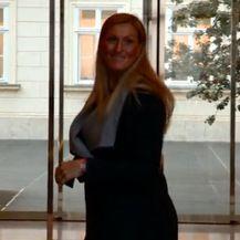 Janica Kostelić ispred Vlade (Foto: Screenshot)