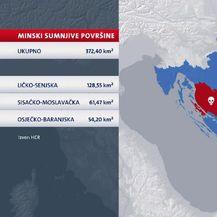 Sumnjiva područja po pitanju mina (Foto: Dnevnik.hr)