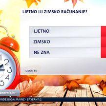 Odluka biranja između ljetnog i zimskog režima (Foto: Dnevnik.hr)