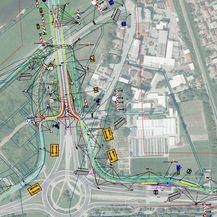 Ceste tijekom preuređenja rotora (FOTO: Screenshot/GradZagreb)