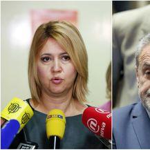 Milanka Opačić i Milan Bandić (Foto: Goran Jakus/Patrik Macek/PIXSELL)