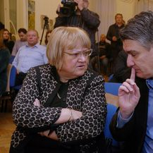 Anka Mrak-Taritaš i Zoran Milanović (Foto: Zarko Basic/PIXSELL)