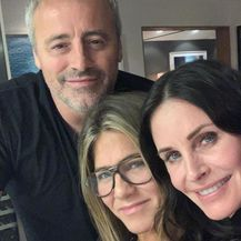 Courteney Cox, Jennifer Aniston, Matt Le Blanc (Foto: Instagram)