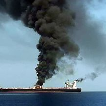 Tanker u plamenu, ilustracija (Foto: AFP)