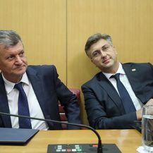 Milan Kujundžić i Andrej Plenković (Foto: Goran Stanzl/PIXSELL)