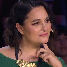Zbor Supertalent, Martina Tomčić plače (Foto: Screenshot Nova TV)