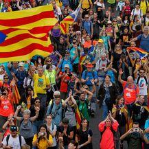 Prosvjed i štrajk u Kataloniji (Foto: AFP)