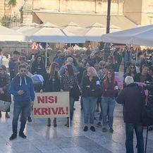 Prosvjed Pravda za djevojčice u Zadru (Foto: Dnevnik.hr) - 3