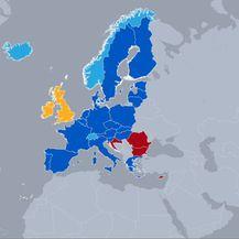 Status zemalja po pitanju Schengena (Foto: Dnevnik.hr)
