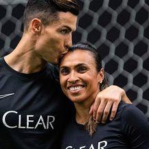 Cristiano Ronaldo i Marta Vieira da Silva (Foto: Instagram)