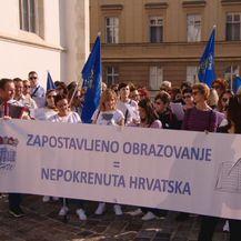 Prosvjed prosvjetara (Foto: Dnevnik.hr)
