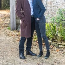Dominic West i Catherine FitzGerald