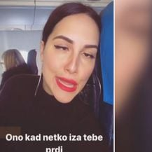Lana Jurčević u avionu (Foto: Dnevnik.hr)