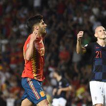 Asensio slavi pogodak protiv Hrvatske (Foto: AFP)