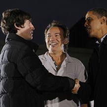 Sam i Bruce Springsteen s Barackom Obamom 2008. godine