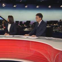 Marko Pavić, ministar rada i mirovinskog sustava, i voditelji Dnevnika Nove TV (Foto: Dnevnik.hr)