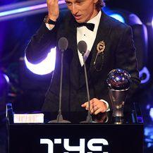 Šampionski govor Luke Modrića (Foto: AFP)