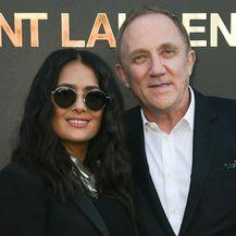 Salma i Francois-Henri na reviji modne kuće Saint Laurent
