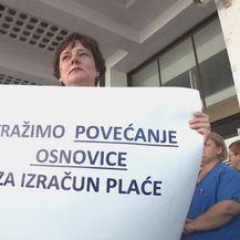 Prosvjed zdravstvenih djelatnika (Foto: Dnevnik.hr)