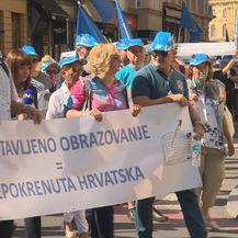 Učitelji održali prosvjed (Foto: Dnevnik.hr)