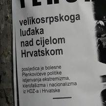 Prijetnje Miloradu Pupovcu osvanule na ulazu u njegovo rodno selo (Foto: Facebook/SDSS)