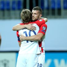 Luka Modrić i Ante Rebić (Foto: Luka Stanzl/PIXSELL)