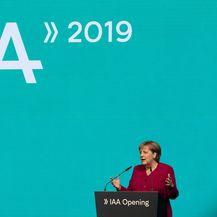 Govor Angele Merkel na otvaranju frankfurtskog auto showa (Foto: AFP)