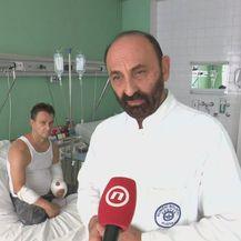 Dražen Bužan i kirurg Ivan Kirin (Foto: Dnevnik.hr)