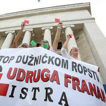 Prosvjed protiv švicaraca (Foto: Tomislav Miletić/PIXSELL)