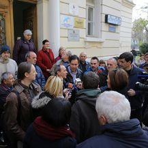 Zadar: Prosvjedni skup bivših radnika Croatia-Zadar Linea (Foto: Filip Brala/PIXSELL)