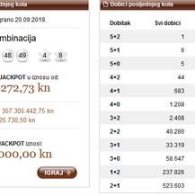 Eurojackpot (Foto: Hrvatska Lutrija/Screenshot)