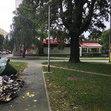 Zapalio se kontejner u Zagrebu (Foto: Čitatelj) - 1