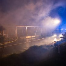 Požar kod Zapadnog kolodvora (Foto: Davor Puklavec/PIXSELL)