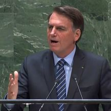 Predsjednik Brazila Jair Messias Bolsonaro (Screenshot: UN TV)