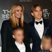 Luka Modrić s obitelji (Foto: AFP)
