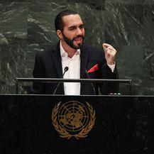 Predsjednik El Salvadora prije govora u UN-u opalio selfie (Foto: AFP)