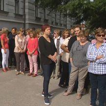Prosvjed zaposlenika suda i sudskih policajaca (Dnevnik.hr)
