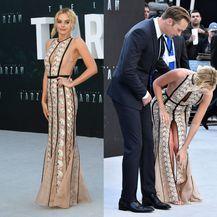 Duga i preuska haljina stvarala je probleme Margot Robbie na premijeri filma Tarzan