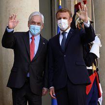 Brigitte Macron, Sebastian Pinera i Emmanuel Macron