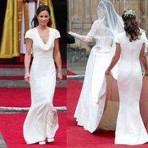 Pippa Middleton u preuskoj haljini na svadbi svoje sestre