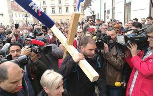 Saša Pavlić stigao na Markov trg (Foto: Dnevnik.hr)