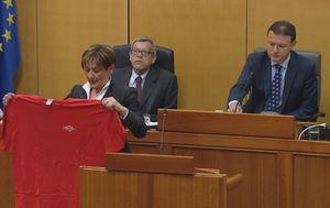 Martina Dalić s majicom sindikata (Foto: Dnevnik.hr)