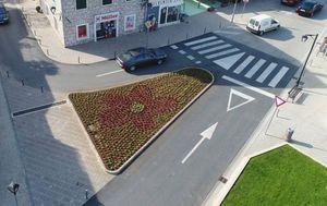 Branitelji u Vodicama protiv zasađenog cvijeća jer ih podsjeća na petokraku (Foto: Infovodice)