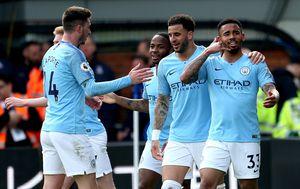 Slavlje igrača Manchester Cityja (Foto: Steven Paston/Press Association/PIXSELL)