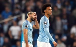 Sergio Aguero i Leroy Sane (Foto: Martin Rickett/Press Association/PIXSELL)