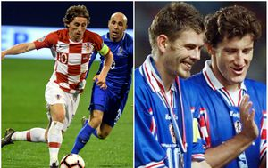 Luka Modrić, Zvonimir Boban i Davor Šuker (AFP/GOL.hr)
