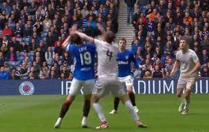 Nikola Katić izborio kazneni udarac za Rangers (Screenshot)