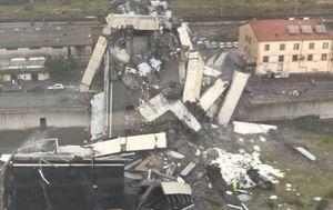 Srušeni vijadukt na autocesti kod Genove (Foto: Talijanska policija)