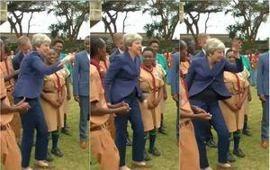 Ples Therese May (Screenshot: Večernje vijesti)